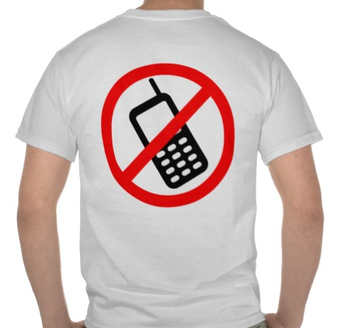 Motorcycle Safety T-Shirt - No Cell Phones